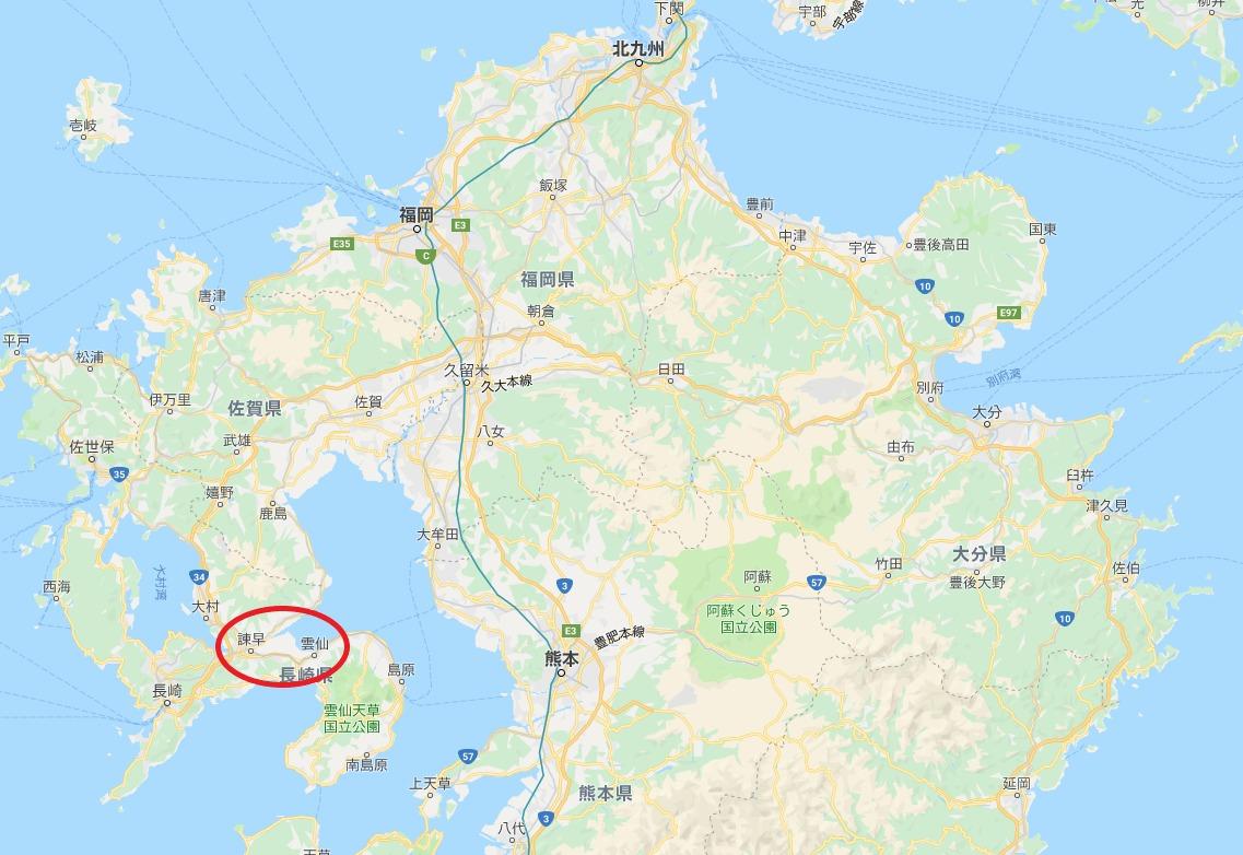 九州北部の地図
